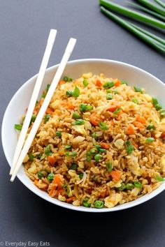 Chinese Fried Rice - 15-minute vegetarian fried rice. A healthy, flavorful and satisfying side dish or main.   EverydayEasyEats.com
