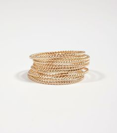 catbird :: MERMAID'S DREAM :: Gold Twisted Stacker Ring - NEW! {CATBIRD EXCLUSIVE}