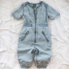 kidscase denim baby jumpsuit - one pieces/ensembles - baby   Thumbe Line