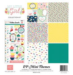 Echo Park My Little Girl 12x12 Scrapbook Collection Kit Pocket Scrapbooking Journal Cards Horse Cupcakes Hears Flowers Happy Times Teacups by InkyHotMess on Etsy