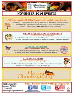 November Events Apartment Party Resident Retention Harvard Square Leasing Office