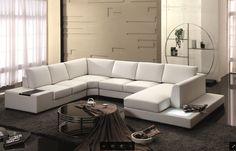 spectacular modern white leather sofa. U2029 White Top Grain Leather Sectional Sofa Divani Casa Pella Modern