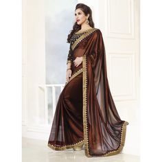 Brown Shimmer / Chiffon Sophie Choudry Saree
