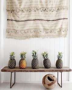 pineapples as decor