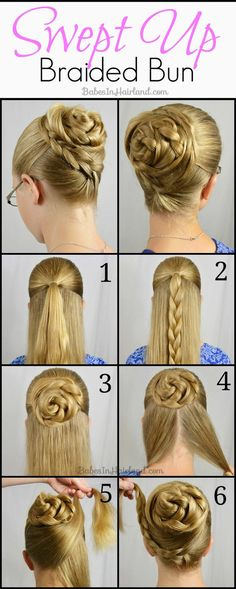 Braided Bun Updo Hair Tutorial #hairstyle #twistedupdo #hairdo - bellashoot.com