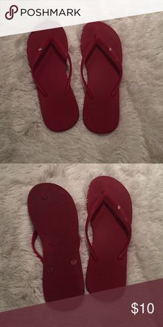 Abercrombie and Fitch Flip Flops Cute red flip flops Abercrombie & Fitch Shoes Sandals