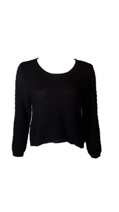 American Rag Black Textured Sweater