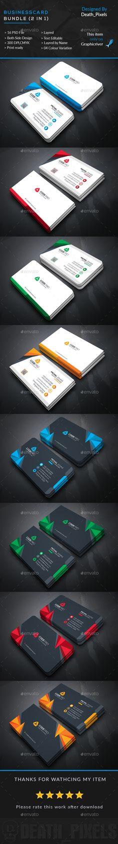 Business Card Templates PSD Bundle. Download here: http://graphicriver.net/item/business-card-bundle-2-in-1/15911057?ref=ksioks