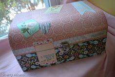 Make a Keepsake Box with scrapbook paper | Keepsake Box scrapbook paper and Mod podge box #craft #modpodge #DIY # ...