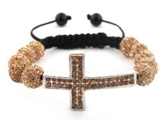"Gold Micro Pave Shamballah Cross Bracelet with 10 Iced Out Disco Balls JOTW. $9.95. The approximate measurements of the cross are 1"" Height x 1.5"" Length.. Great Quality Jewelry!. 100% Satisfaction Guaranteed!"