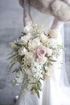 Cascading Bouquets Full of Whimsy, Romance and Bridal Style | Team Wedding Blog