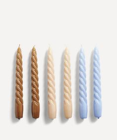 Twist Candles Set of Six