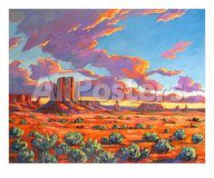 Monument Valley Sunset by Lantern Press Landscapes Art Print - 51 x 41 cm