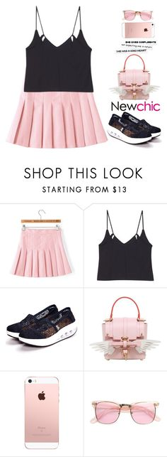 """""""Newchic (11) ♥"""" by av-anul ❤ liked on Polyvore featuring Niels Peeraer, ZeroUV, blockheels, topset and avanul"""