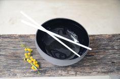Ceramic bowls, Ramen bowl set, Black ceramic bowls, Set of four bowls Ceramic Bowls, Stoneware, How To Make Ramen, Black Bowl, Ramen Bowl, Nesting Bowls, Breakfast Bowls, Bowl Set, Safe Food