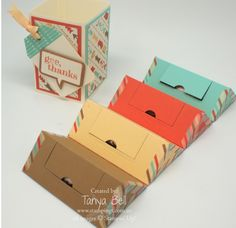 Stampin' Up! Stamping T! - Washi Tape Folded Triangle Gift Box Retro Fresh open