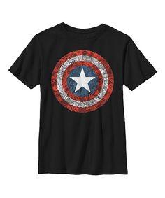 Black Captain America Comic Book Shield Tee - Men & Big