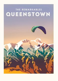 Vintage Style Poster of Queenstown New Zealand by NZPrints on Etsy New Zealand Art, New Zealand Travel, Victoria Art, Queenstown New Zealand, Polaroid, Cool Posters, Retro Posters, Movie Posters, Tourism Poster