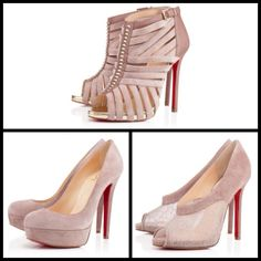 Nude Suede Louboutins