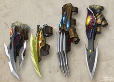"Roman Guro's LiveJournal - Concept art: 80 weapons concepts for the ""Sun""."