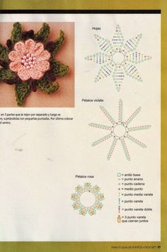 REGINA RECEITAS DE CROCHE E AFINS: flores Elo 7, Crochet Flowers, Origami, Diy And Crafts, Leaves, Baby Things, Crocheting Patterns, Appliques, Colorful Curtains