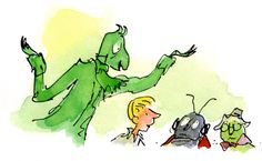 Quentin Blake's James and The Giant Peach illustration The Enormous Crocodile, Esio Trot, Quentin Blake Illustrations, Michael Rosen, The Twits, Champions Of The World, The Giant Peach, Popular Stories, Royal College Of Art