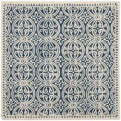 Handmade Cambridge Moroccan Navy Blue Wool Rug | Overstock.com