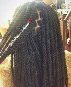 Marley twists with marley hair. My favorite.