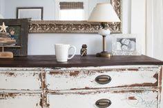 Coffee cup on dresser