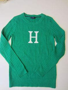 "Tommy Hilfiger W's KELLY GREEN  ""H"" Knit Sweater M $69.50 - NWT #TommyHilfiger #ScoopNeck"