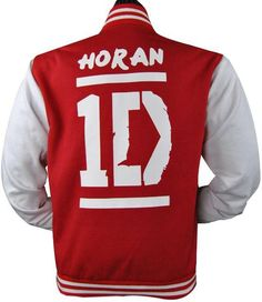 One Direction baseball jacket given to the boys in Sydney by The Justice Crew as a thank you for having them as the support act on One Direction's first Australian tour. This is Niall Horan's jacket.