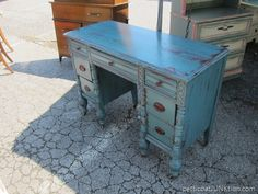Blue Desk at the Nashville Flea Market.