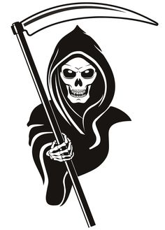 Reaper! Can't you read the No Soliciting sign?!