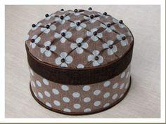 ドッテッドスモッキングの裁縫箱  カルトナージュ