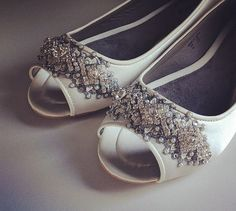 bd17d87cb473 Downton Abbey Bridal Open toe Ballet Flats by BeholdenBridal Downton Abbey