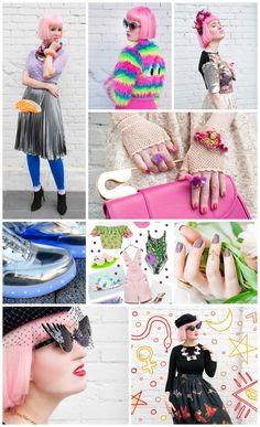 Wardrobe Conversations Blog Crushes 10 Blogger Style - Sara's in Love With Bright, bold and kitsch, Sara is a pink haired fashion wonder. Fun fashion with quirky accessories and themed outfits galore.