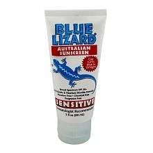 Blue LizardAustralian Sunscreen, Sensitive, SPF 30+ at your local pharmacy or even online. This worked great on my lil one who has a fair complexion.  #wevegotyoucovered