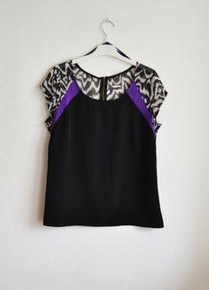czarna satynowa bluzka satyna z zipem suwakiem oversize