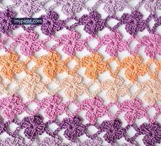 безотрывное вязание цветочный узор крючком схема мастер-класс