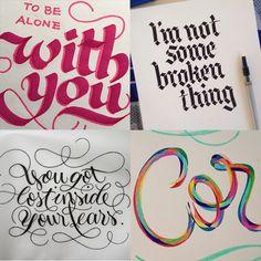 Marina Chaccur - 10 designers brasileiros que criam incríveis letterings feitos à mão;