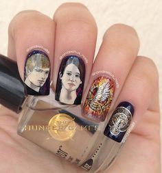 Hunger Games Nails!! Love these!