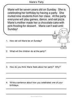 Comprehension Passages November Journal Common Core Aligned No