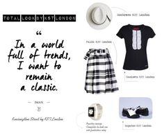 Total Look compuesto por sombrero, camiseta, falda y zapatos de #kstlondon. Hazte con él en www.kstlondon.com    #moda #fashion #springfashion