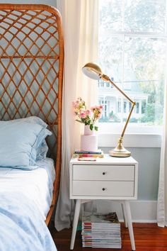pretty nightstand styling