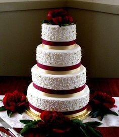 burgundy wedding lily cake - Google Search