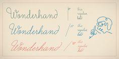 Wonderhand typeface | Designer: Martina Flor - available from myfont