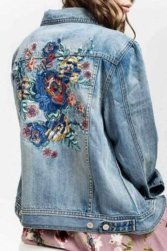 Blu Pepper Emily Embroidered Denim Jacket - Jeans Jacket - Ideas of Jeans Jacket - Blu Pepper Emily Embroidered Denim Jacket Embroidered Denim Jacket, Embroidered Clothes, Denim Jacket Embroidery, Jean 1, Trend Council, Jean Jacket Outfits, Gucci Jean Jacket, Painted Denim Jacket, Estilo Hippie