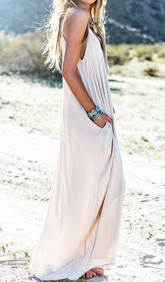 White Pleated Maxi Dress....MUST HAVE FOR ME!