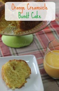 Orange Creamsicle Bundt Cake recipe #ad TruMooMilk TruMooHalloween OrangeScream