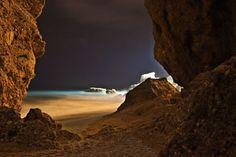 Nerja seashore at night - free stock photo